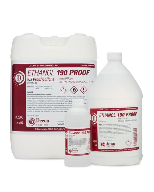 Decon 190 Proof Pure Ethanol : DeconLabs