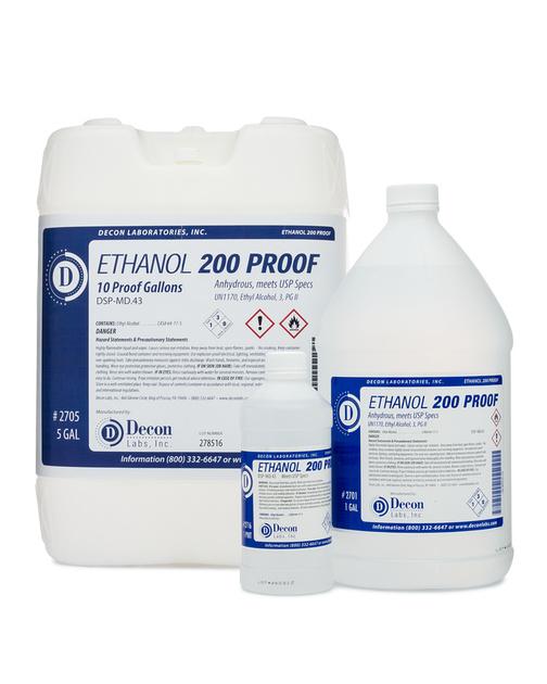 Decon 200 Proof Pure Ethanol Alcohol, 100% Pure Ethanol